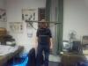 HA3GRX Gábor a muzeális korú ZD távmérővel.