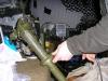 UHF és VHF felderítő rádió antennatartó oszlopa.