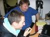Norbi és Péter forgalmazás gyakorlása közben.