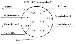 R173 XP2 csatlakozó 3