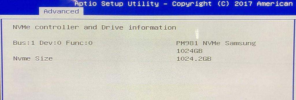 Samsung PM981 NVMe SSD telepítésének eredménye, siker!